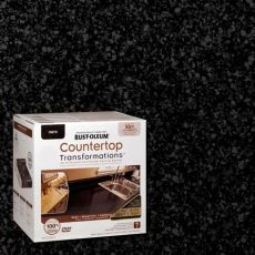 rustoleum charcoal countertop transformation kit review rust oleum transformations 70 oz onyx large countertop kit 258284 the home depot