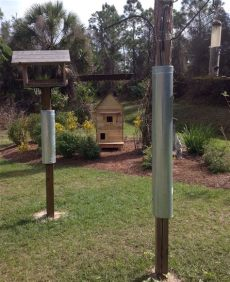 homemade squirrel baffle for 4x4 post pin on birds feeders and houses