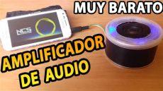 armar sonido casero como hacer un lificador de audio casero
