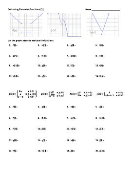 piece wise functions evaluate graph 5 practice
