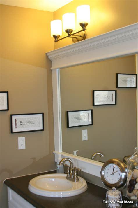 full great ideas upgrade builder grade mirror frame