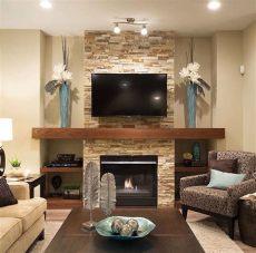 salas pequenas con chimenea y tv living room interiores de casa azulejos para chimenea