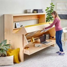 diy murphy bed desk plans how to build a murphy bed that easily transforms into a desk the family handyman