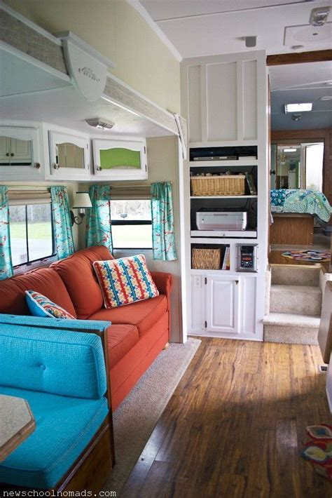 great ideas redecorating rv trailer rv redecorated living