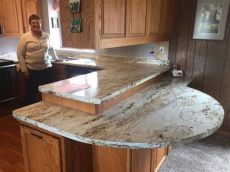 formica river gold reviews this is a beautiful use of laminate this is river gold from formica replacing kitchen