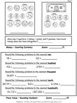 math basic skills assessment 5 created mrhughes tpt