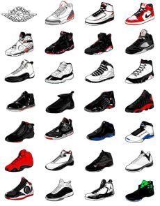 every pair of air jordans the evolution of air on behance