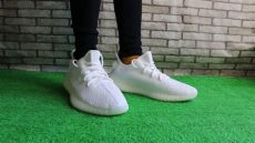 yeezy boost 350 v2 white on feet yeezy 350 boost v2 white on foot