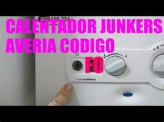 calentador junkers error f0 calentador junkers c 243 digo fo