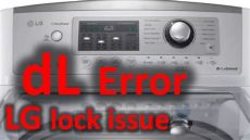lg de error dl error code solved lg top loading washer washing machine lock issue