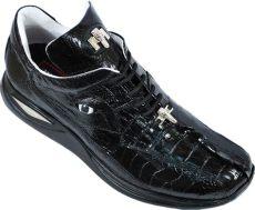 mauri gators shoes mauri caiman 8815 black genuine hornback alligator ostrich sneakers with silver mauri