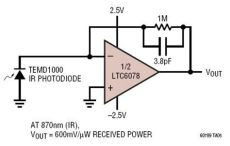 transimpedance capacitor micropower photodiode lifier circuit collection