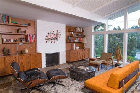 99 relaxing mid century modern living room decor
