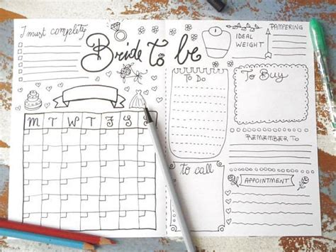 Wedding Planner Organiser Diary Keeping Journal Wedding Plans