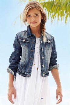 clothing 3 to 16 years next authentic denim jacket 3 16yrs ezibuy australia - Next Girls Jackets
