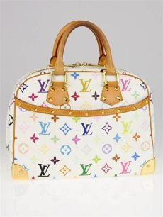 louis vuitton white multicolor purse louis vuitton white monogram multicolor trouville bag yoogi s closet