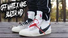 nike x off white blazer on feet white x nike blazer mid review and on foot