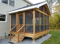 how to build a back porch on a mobile home 15 diy screened in porch learn how to screen in a porch the self sufficient living