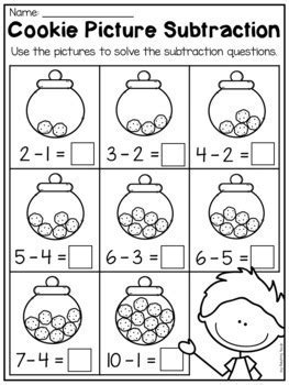 kindergarten addition subtraction worksheets 10 teaching pal