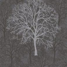 tree motif wallpaper graham brown silver black tree pattern motif wallpaper 60011