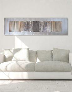 large metal wall art uk echo oak grey silver wall contemporary uk