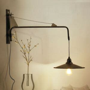 vintage long pole hanging wire wall led