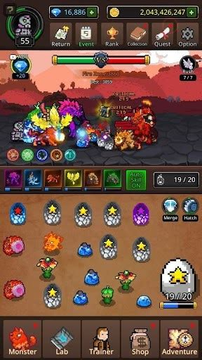 search grow merge monsters mod apk free shopping