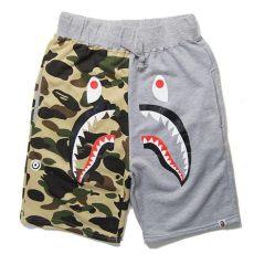 bape shirt and shorts new brand summer cargo shorts bermuda masculina bape shorts shark sweat shorts hombre