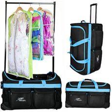 rolling dance bag with garment rack rolling bag