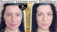 dermacol makeup cover foundation review dermacol cover foundation review demo combination skin