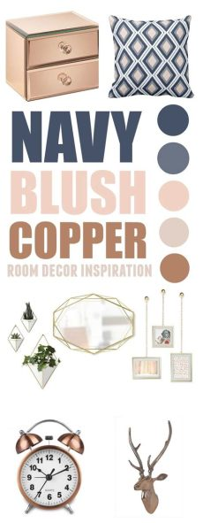 navy blush copper bedroom 10 blush navy copper inspirations for your cozy home cozy easy and hygge