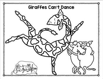 giraffes dance free coloring pages book units lynn