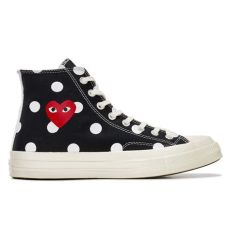 play converse chuck taylor all star 70 high white play converse polka dot chuck all 70 high black