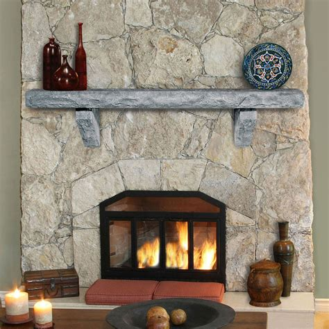 ranier cast stone mantel shelves fireplace mantel