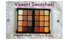 viseart neutral matte eyeshadow palette and warm matte eyeshadow palette swatches - Viseart Neutral Matte Palette Swatches