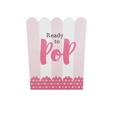 girl boy ready pop popcorn boxes 25 set