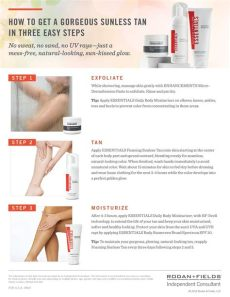 for applying rodan fields sunless most importantly 1 exfoliate remove - Rodan And Fields Self Tanner Instructions