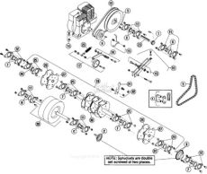 bluebird h530a 2005 04 parts diagram for power tine rotor assembly - Bluebird Aerator Parts