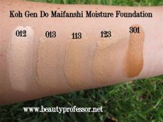 koh gen do maifanshi moisture foundation swatches professor koh do maifanshi moisture foundation swatches and review