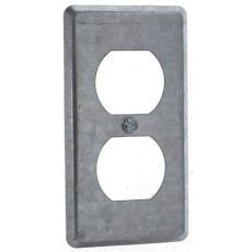 home depot receptacle cover 1 steel utility duplex receptacle cover of 25 58c7 25r the home depot