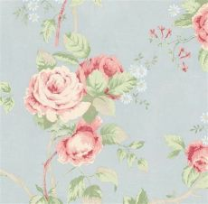 pale blue shabby chic wallpaper wallpaper by the yard shabby chic pink cottage floral on pale blue countr ebay