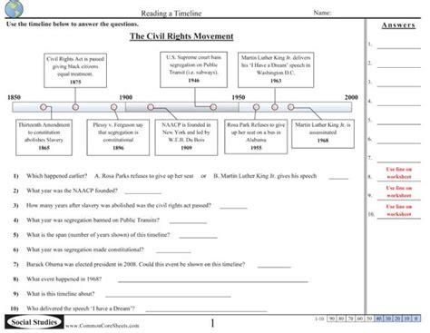 common core social studies timeline worksheets common core