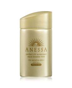 anessa sunscreen sensitive skin review shiseido anessa uv sunscreen aqua booster mild for