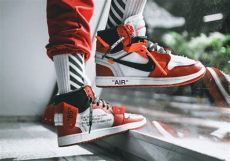 off white jordan 1 red on feet white air 1 releases on september 1st sneakernews