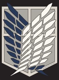 attack on titan scout regiment logo wallpaper attack on titan scout regiment symbol search survey corps logo survey corps