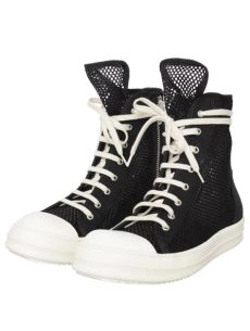rick owens ramones high top drkshdw by rick owens ramones high top mesh sneakers black in black for lyst