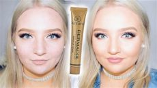 dermacol foundation shades dermacol coverage foundation shade 208 to 221 matching my tobie jean