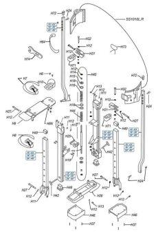 marshalltown stilts parts s2 magnesium stilts parts diagram