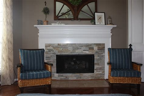 header stacked stone fireplace surround