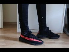 adidas yeezy 350 boost v2 quot black quot review on - Yeezy Boost 350 V2 Black Red On Feet